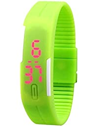 Styllent Presents Green Color Unisex Silicone Digital LED Band Wrist Watch For Boys, Girls, Men, Women
