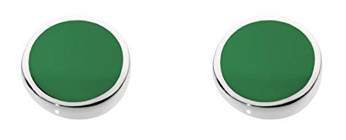 Dew 3060ga orecchini a perno in argento sterling e con pietra di agata verde sferica