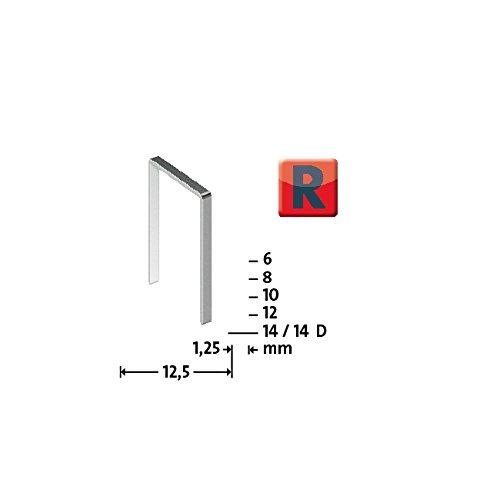 Novus 042-0469 Blister de 960 Agrafes plates 50/14 mm Rouge