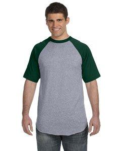 Augusta Sportswear Baseball Short Sleeve Jersey XXXL Athletic Heather/Dark Green