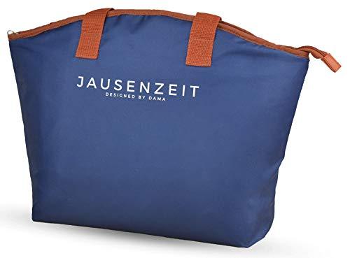 Jausenzeit Premium Lunchbag Lunch-Tasche, Isoliertasche, Kühltasche zum Einkaufen, Picknick, Office | faltbar wasserdicht