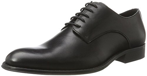 Bianco Herren Elegant Dress Shoe 52-71315 Derby, Schwarz (Black), 44 EU