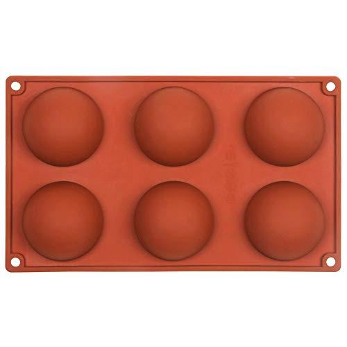 Vivin Kuchen Form Silikon Half Ball Kugel Dessert Muffin Gebäck Jelly Pudding Tablett Farbe in zufälliger