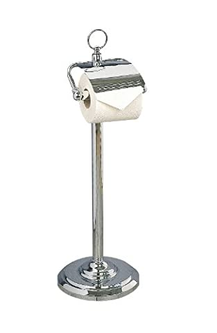 Miller Classic Toilet Roll Holder 5658CH - Free Standing, Polished Chrome Plated Brass, With Lid.