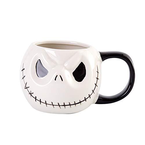 Halloween Keramik Tasse, Kreative Art Jack Kürbis Schädel Kaffeetasse Für Cappuccino, Latte, Milch Tasse (Halloween Verpassen Kreative)
