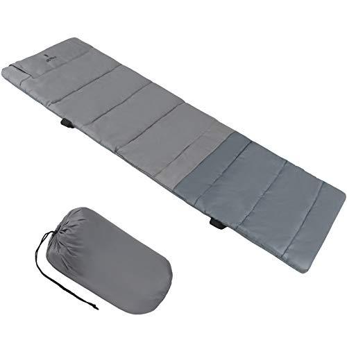 ALPIDEX universelle Feldbettauflage in unterschiedlichen Größen mit Kissenfach, Fixierbändern und Packsack, Größe:210 x 72 cm