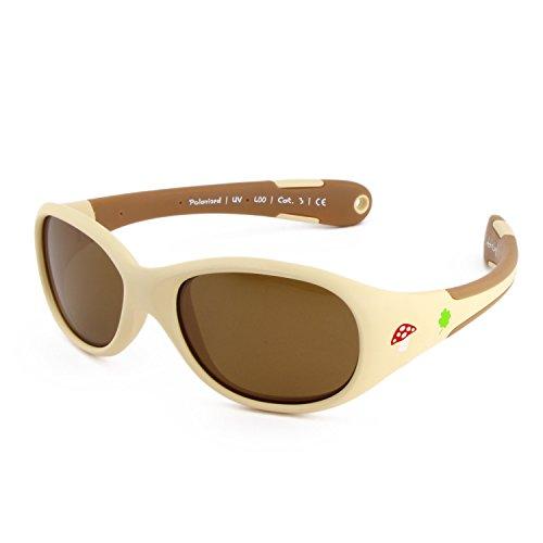 Active Sol BABY-Sonnenbrille | MÄDCHEN | 100% UV 400 Schutz | polarisiert | unzerstörbar aus flexiblem Gummi | 0-2 Jahre | 18 Gramm [Size L - Forest]
