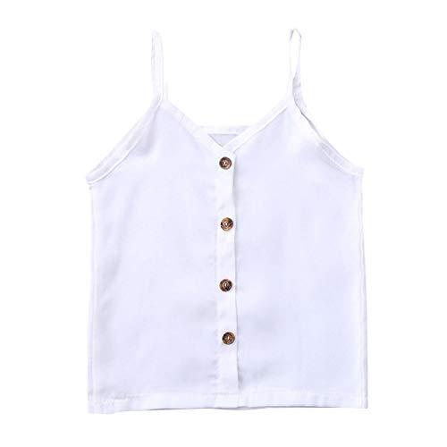 Baby Mädchen Jungen, Yanhoo Kleinkind Kinder Baby Mädchen Lässige Kleidung Ärmelloses Shirt Bluse Tops Einfarbig Einreiher Top 2-3 Jahre Baby und Kleinkind, Skater Top