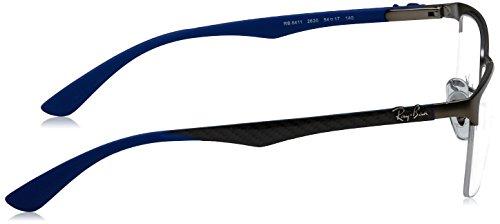Ray Ban Optical Montures de lunettes RX8411 Pour Homme Shiny black, 52mm 2620: Matte Gunmetal