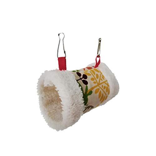Ruijanjy Pet Hamster Hamac d'hiver en Peluche Cylindre à Lit Suspendu Coloré Sleeping House Nest Gerbilles Chinchilla écureuil Hedgehog 1 Piece