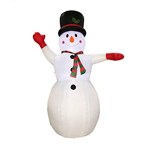 PZY Aufblasbares Baumuster des Weihnachten Selbstaufblasendes, Nette Aufblasbare Weihnachtsdekorationen Mit Der Gebläse-Weihnachtstagesdekoration, Passend Für Hof, Garten-Dekoration (Aufblasbar Dekorationen Hof Weihnachten)