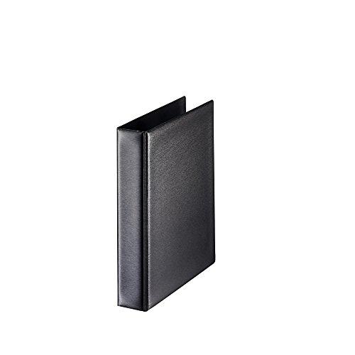 Leitz 46040095 Ringbuch Premium, A5, PP, 2 Ringe, 25 mm, schwarz (A5 Binder)