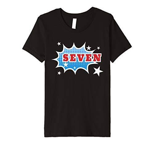 Kinder Boys Seventh Birthday Kids Gift T Shirt