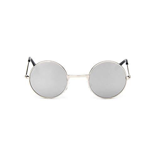 Sonnenbrille Coole Retro Schwarz Blau Runde Kids Sonnenbrille Little Girl/Boy Baby Kind Brille Schutzbrille Uv400 Kleines Gesicht Silber
