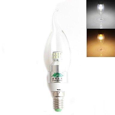 FDH 3W E14 Luces de velas LED SMD CA35 30 3014 280 lm / blanco cálido, blanco frío 100-240 V CA Decorativas,blanco cálido.