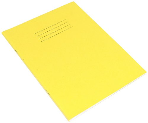 RHINO VEX342-504-8 F8/B 200x165 48 Page Exercise Book - Yellow (Pack of 10)