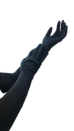 mens-and-womens-long-black-smooth-shiny-non-elastic-gloves-for-fancy-dress-evenings-out-moisturizing