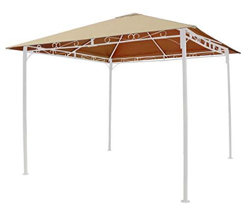 GRASEKAMP Qualität seit 1972 Ersatzdach zu Gartenpavillon 3x3m Sand Antik Pavillon Partyzelt Plane Bezug universal