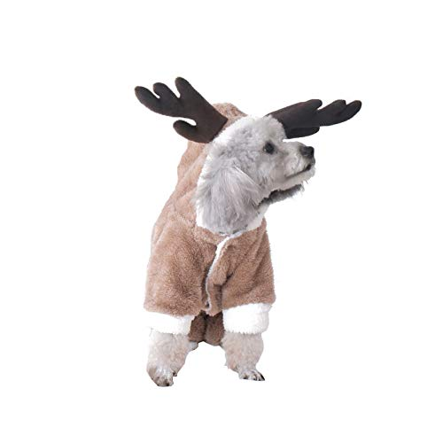JIAQING Ropa para Mascotas De Cuatro Patas Convertida En Ropa Cálida De Invierno para Perros. Disfraz De Osito De Peluche. Ropa De Primavera Y Otoño para Perros Pequeños,Brown(S)