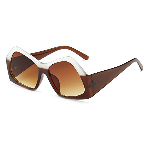 Liuao 2019 Neue große Rahmen Polygon Sonnenbrille Unisex Mode Retro hochwertige Brille Frauen markendesigner Sonnenbrille uv400,Style 5