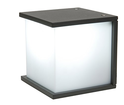 Eco Light Moderne Außenwandleuchte Box Cube, E27, 16,5 x 16,5 cm, anthrazit 1846 GR