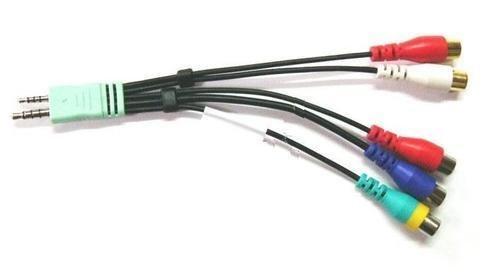 * NEU * ORIGINAL SAMSUNG UE55D6100SKXXU/UE55D6200TSXZG/ue55d6530wkxxutv/UE55D6530WSXZG/UE55D7000LUXXU/UE55D8000YUXXU/UE40D5520/UE46D6100Audio Video AV Component Adapter Kabel (Samsung Av Kabel)