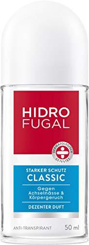 Hidrofugal Classic Roll-On, Deo-Roller mit dezentem Duft, hochwirksames Anti-Transpirant bietet starken Schutz gegen Schweiß, 5er-Pack (5 x 50 ml)