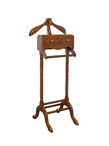 Stummer Diener Herrendiener Kleiderständer Antik Stil aus Massivholz (5590)