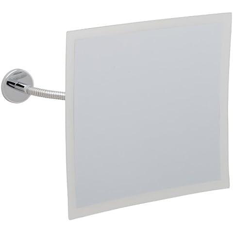 Nie wieder bohren MR493 - Specchio cosmetico (foro di fissaggio, 18,5 x 18,5 x 4 cm), finitura cromo