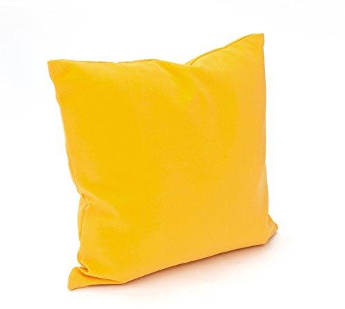 VTB 4 Kissenbezug 40 x 40 cm Toscana von Hambiente, waschbar mit Reißverschluss in gelb