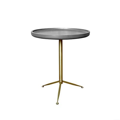 table basse Round Iron art couleur de ciment moderne salon simple chevet canapé coin (taille : 39.6cm*46cm)