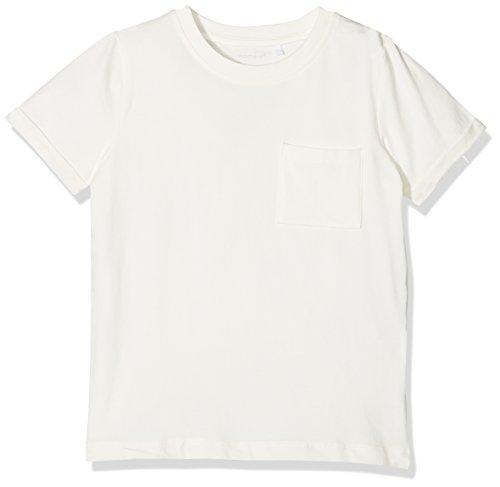 NAME IT Jungen T-Shirt NKMVESTER SS TOP NOOS, Weiß (Snow White), 128 (Herstellergröße: 122/128)