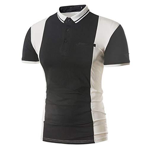 CICIYONER Herren Poloshirt Kurzarm Einfarbig Sommer T-Shirt Men's Polo Shirt S M L XL XXL