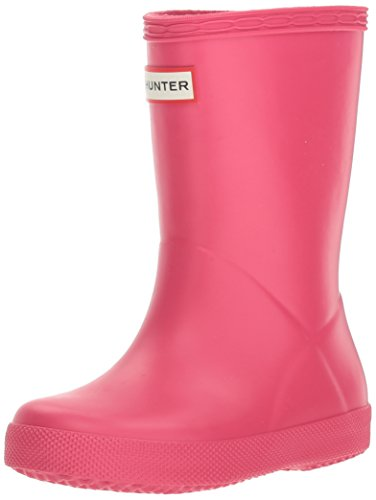 Hunter Original Kinder First Classic Bright Rosa Wellington Stiefel-UK 4 Kinder (Kinder Original Hunter Stiefel)