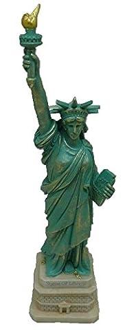 figurine statue de la liberté sur socle