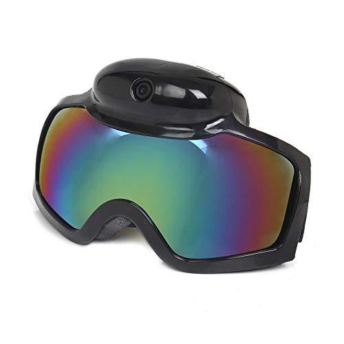 YLOVOW Skibrille, Wasserdichte Video-Sonnenbrille, 1080P HD DVR Sport-Skibrille, 120-Grad-Weitwinkelkamera mit 8 Megapixel über Ski- / Snowboardbrillen,NoTF