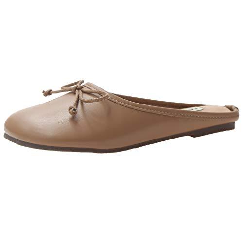 ODRD Sandalen Shoes Frauen Schuhe Hausschuhe Tragen Plattform Slip Lazy Casual Sandalen Erbsen Schuhe Single Bequem Schuhe Strandschuhe Freizeitschuhe Turnschuhe Hausschuhe Slipper