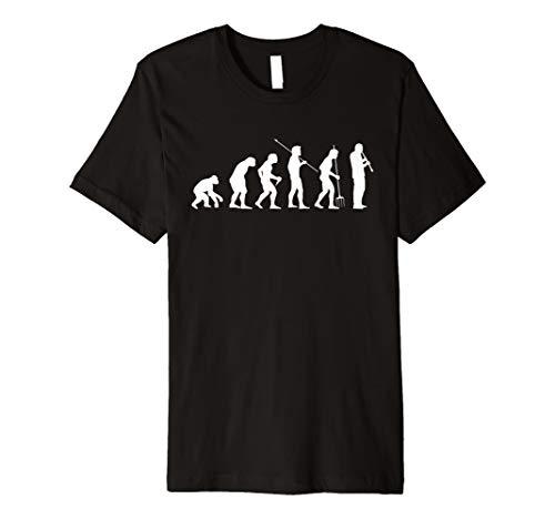 Evolution Klarinette T-Shirt Entwicklung Klarinettist