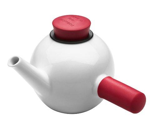 QDO théière porcelaine avec poignée 1 litre - coloris rouge
