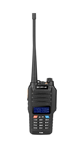 Baofeng Tragbar Handfunkgerät T-55 Walkie-Talkie Wasserdicht IP57 VHF/UHF Ulta-Compact Dual-Band Transceiver mit breiten Band Abdeckung Dual-Band Dual-Display Dual-Standby