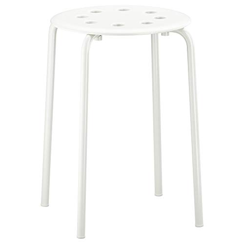Ikea Marius Hocker in weiß; stapelbar; (45cm)