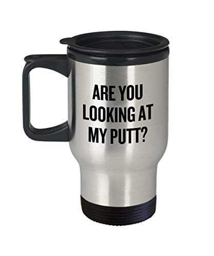 Divertida taza de golf de viaje, idea de regalo para golfista, jugador de golf, regalo que estás viendo mi putt
