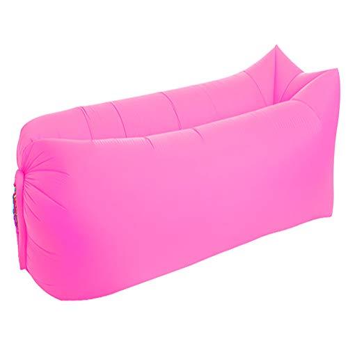 ZCCGRASS Lazy Couch Outdoor Sofa aufblasbares Sofa tragbarer Schlafsack Faltbare Luft schlafsofa schnell aufblasbare Camping Luft Bett zu Hause abnehmbare Luft Bett,Rosa