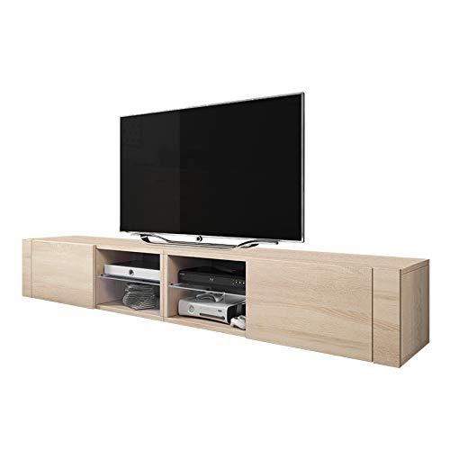 Selsey Élégant 2 Double TV Meuble Moderne (Sonoma mat)