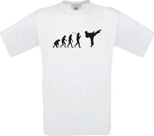 ShirtInStyle T-Shirt EVOLUTION Kampsport Karate Kickboxen, Farbe weiss, Größe XL (Evolution Grey-t-shirt Ash)