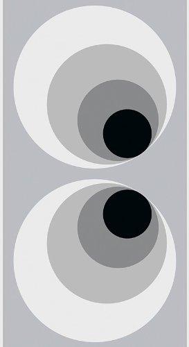 4 x (Rollen) 942782 TD auf Folie (selbstklebend) - TAPETE Grau/Schwarz 9427-82 AS-Creation