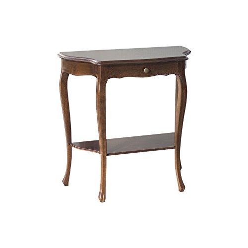 Pieffe mobili consolle legno, noce arte povera, taglia unica
