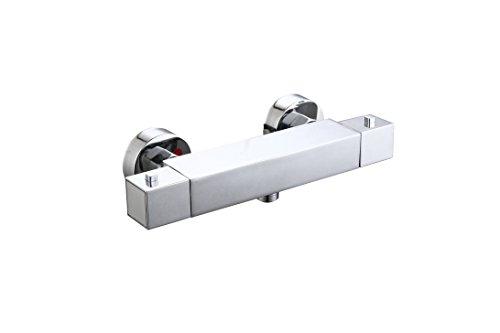 DP Grifería TTMEDI-0001 Grifo termostático de ducha, Plateado