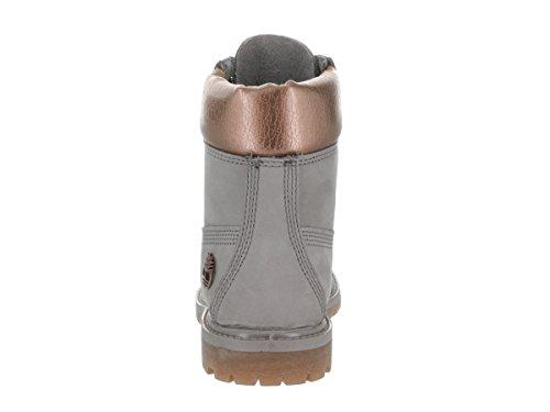 Timberland 6 Inch Premium Metallic Femmes Cuir Botte Grey
