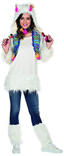 Kostüm Von Peru - Rubie's Damen Kostüm Alpaka Lima Weiß Lama Tier Peru Fasching Karneval (38)